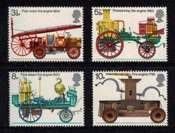 Great Britain 1974 Fire Engines Set Of 4 MNH - Ungebraucht