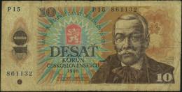 ♛ CZECHOSLOVAKIA - 10 Korun 1986 {Státní Banka Československá} VG P.94 - Czechoslovakia