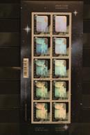 New Zealand , Hologramm Mondlandung, Kleinbogen, 1994, ESST Gestempelt - Holograms