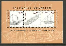 Iceland Island 1997 Day Of The Stamp - Icelandic Paddle Boats  Mi Bloc 8 MNH(**) - Ungebraucht