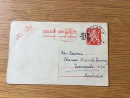 Belgique : CP N°138M1 (-10%) Repiquée Et Envoyé De Malines En Australie (17/10/1946) - Postales [1934-51]