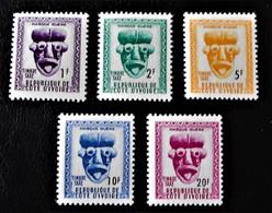 TIMBRES-TAXE - CHIFFRES DE LA VALEUR EN NOIR 1960 - NEUFS ** - YT 19/23 - Ivory Coast (1960-...)