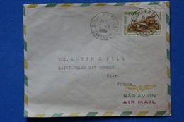P25 CAMEROUN BELLE LETTRE   1964 PAR AVION DOUALA POUR ST FELIX FRANCE + AFFRANCHISSEMENT PLAISANT - Cameroon (1960-...)