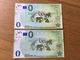 Belgique : 2 Billets Différents De 0€ De Pairi Daiza - Otros