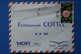 P25 CAMEROUN BELLE LETTRE 1967 DOUALA POUR  VICHY FRANCE + AFFRANCHISSEMENT PLAISANT - Cameroon (1960-...)