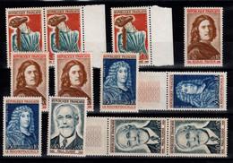 YV 1442 à 1445 Celebrites 1965 N** En 3 Exemplaires - Unused Stamps