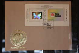 Polen, Hologramm, Hologrammblock Zur Phila Nippon 1991, FDC - Holograms
