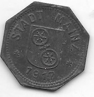 Notgeld Mainz 10 Pfennig 1917 Zn  8711.3 / F 314.2 - Other