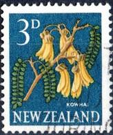 NUOVA ZELANDA, NEW ZEALAND, FLORA FIORI, FLOWERS, 1960, 3 D., FRANCOBOLLO USATO Mi:NZ 396A, Scott:NZ 337, Yt:NZ 387 - Gebraucht
