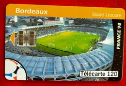 Télecarte +Stade De Foot Bordeaux - France 98 - Sport