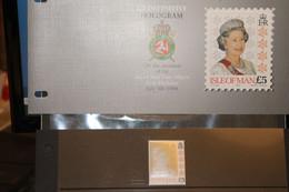 Hologramm, Hologrammmarke 1994, Isle Of Man, Königin Elisabeth II; 5 Pfund; Präsentationspack, MNH - Holograms