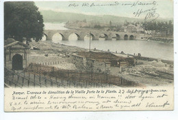 Namur Travaux De Démolition De La Vieille Porte De La Plante ( 1900 Colorisée ) - Namur