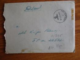 ESTONIA DEUTSCHES REICH OSTLAND  1943 , FELDPOST C , 24592 REDIRECTED TO 15295 , COVER , M - Estonia