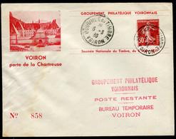 21359 FRANCE   Journée Du Timbre  Voiron Du 5.3.39  B/TB - ....-1949