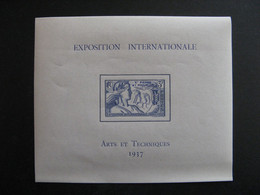 A). Saint Pierre Et Miquelon:  TB BF N° 1, Neuf XX. - Blocchi & Foglietti