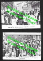 Défilé Manifestations à Paris 1979 &1980 / 2 Cartes Non écrites - Labor Unions