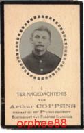Gesneuveld Guerre Arthur Coppens °Gentbrugge 1893 Op Het Eereveld 1917 - Overlijden
