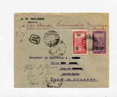 !!! 1ER ESSAI DE POSTE AERIENNE A MADAGASCAR, LETTRE RECO PAR AVION DE TANANARIVE DE 1927 RR - Covers & Documents