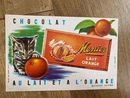 BUVARD MENIER LAIT ORANGE - Cocoa & Chocolat