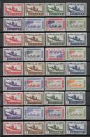 SERIE COLONIALE - 1942 - SERIE POSTE AERIENNE * MLH CHARNIERE LEGERE - 65 VALEURS - COTE MAURY = 65 EUR. - Unclassified