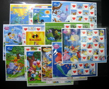 Thailand Stamp Personalized 2010 WALT DISNEY Completed Set (11) - Tailandia