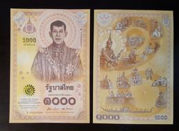 Thailand Banknote 1000 Baht 2020 King Maha Vajiralongkorn Rama X Coronation - Thailand