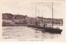 DEAUVILLE : CPA N.TROUVEE SUR DIVERS SITES. SOUS-MARIN DANS LE BASSIN.1938.T.B.ETAT - Deauville
