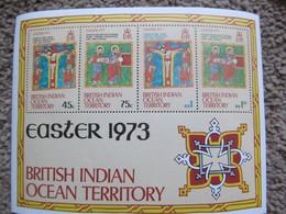 British Indian Ocean Territory Easter 1973 Miniature M/S  MNH X 12 Sheets - British Indian Ocean Territory (BIOT)