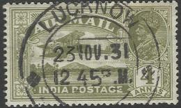 India. 1929 KGV. Air. 4a Used. SG 222 - 1911-35  George V