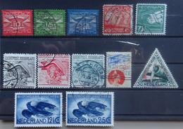 NEDERLAND    Luchtpost  Lp 1 - 3  /  4 - 5  /  6 - 8  / 9  /  10 / 11 En 14    Gestempeld   CW 24,00 - Luchtpost