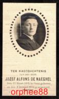 Gesneuveld Guerre Jozef-Alfons De Naeghel °Gent 1895 +het Eereveld 3-1-1916 - Overlijden