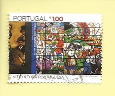TIMBRES - STAMPS - SELLOS -  PORTUGAL - 2004 - VITICULTURE PORTUGAIS - TIMBRE OBLITÉRÉ CLÔTURE DE SÉRIE - Agriculture