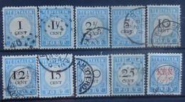 NEDERLAND  Portzegels  1881     P 3 - 13        Gestempeld   CW 140,00 - Portomarken