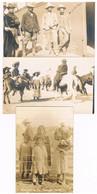 CAMP DE  REFUGIES MEXICAINS 1910/1920 LOT 3 CARTES PHOTO GENERAL VILLA - Ohne Zuordnung