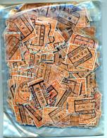 TRAIN - SPOOR - Pakketje Met ± 800 Gestempelde Spoorwegzegels (ref. PAC-002) - Zie Opmerking/voir Remarque - 1923-1941