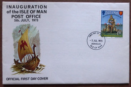 1973 Isle Of Man Stamp First Day Cover-Post Office No A-434 - Isle Of Man