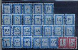 NEDERLAND  Portzegels  1947     P 80 - 106     Gestempeld   CW 17,40 - Strafportzegels