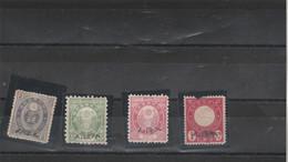 Japon Yvert  62 + 56 + 66 + 86 SURCHARGES Neufs Sans Gomme - Neufs