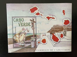Cape Kap Verde Cabo Verde 2003 Mi. Bl. 38 Papa Joao Paulo II Pope Papst Pape John Johannes Paul - Popes