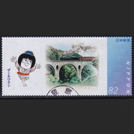 Japan Personalized Stamp, Steam Locomotive Mizuki Shigeru Manga (jpv2208) Used - Used Stamps