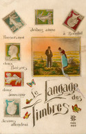 Le Langage Des Timbres * Carte Photo *n°860 * Timbre Stamp Stamps Philatélie - Stamps (pictures)