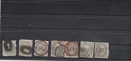 Japon 1876 1877 : 7 Timbres 5 Rin  Voir Dentelure Oblitération - Used Stamps