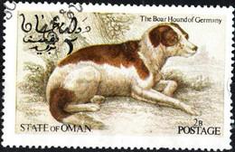 OMAN, CINDERELLA, FAUNA, CANI, 1973, FRANCOBOLLO USATO EMISSIONE NON UFFICIALE - Oman