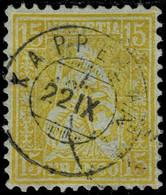 1867, 15 C. Gelb, Zwerg-Stp. Hierauf Selten! , A4544 - Covers & Documents