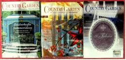 3 X Katalog / Broschüre Country Garden  - Kreative Ideen Für Garten & Wohnen Im Landhaus-Stil - Catalogues