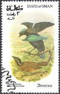 OMAN, CINDERELLA, FAUNA, UCCELLI, BIRDS, 1973, FRANCOBOLLO USATO EMISSIONE NON UFFICIALE - Oman