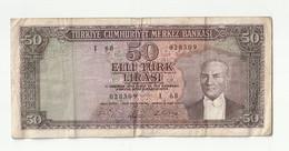 50 Lira Turquie 1930 - Turkey