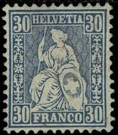1867, 30 C. Ultramarin, Ungebraucht, SBK Fr. 800.-  , A4545 - Unused Stamps