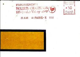 Lettre EMA Havas 1965 Poliet Chausson Construction Animaux Oiseau Coq 75 Paris C39/30 - Factories & Industries