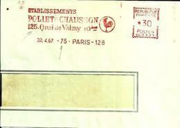 Lettre EMA Havas 1967 Poliet & Chausson Construction Animaux Oiseau Coq 75 Paris C39/31 - Factories & Industries